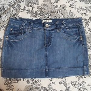l.e.i. Denim Mini Skirt Juniors Size 13